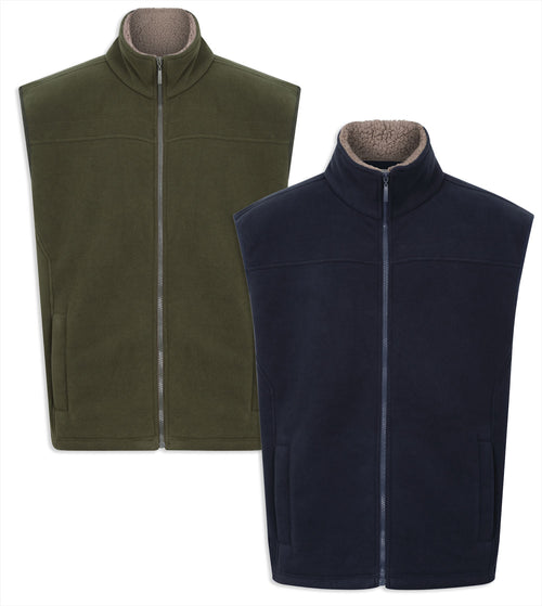 Champion Saunton Fleece Gilet | Navy, Green