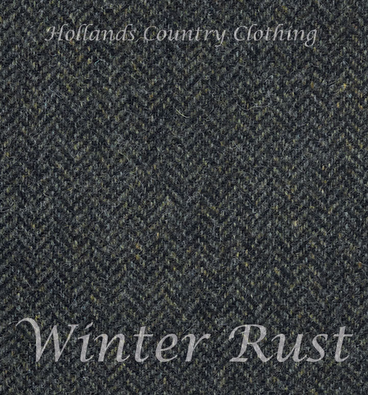 tweed swatch for Jack Murphy Savannah Tweed Skirt- Winter Rust Herringbone