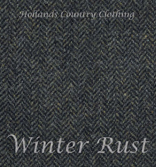 winter rust herringbone tweed from moon's
