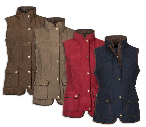 Baleno Scarlet Ladies Quilted Gilet in four colours