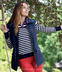 lady wearing classic rugby look, the Nicola is a magnificent pure cotton fine knit style.