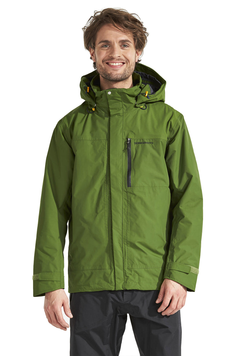 man wearing Tropos Waterproof Shell Jacket by Didriksons