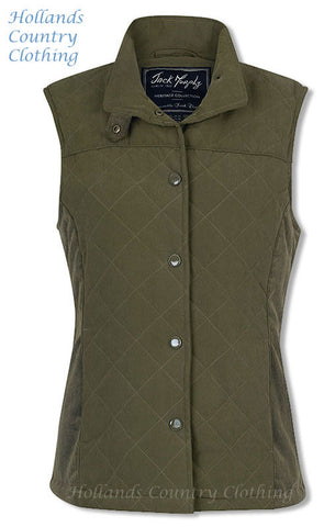 Jack Murphy Shauna Ladies Quilted Gilet green