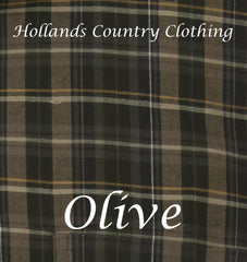 olive tartan colour for Champion Sherborne Shirt Warm Lined Shirt  A country plaid check shirt with a micro fleece lining.