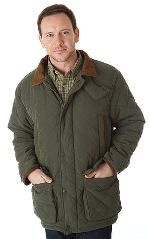 Sherwood Forest Seathwaite Jacket diamond quilted in green olive
