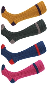Contrast Tip, Heel & Toe Country Sock by HJ Hall