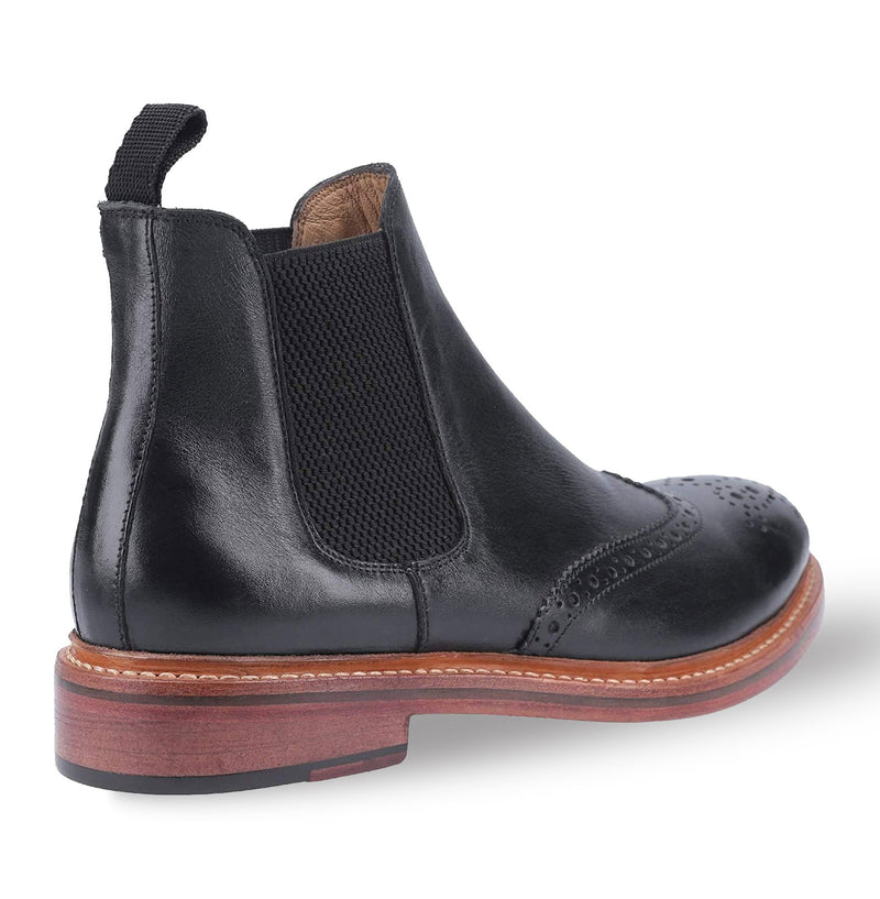 Black Brogue all leather market boot