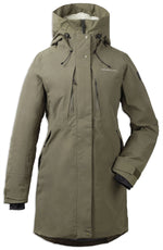 Front crocodile green Didriksons Silje Padded Waterproof Parka
