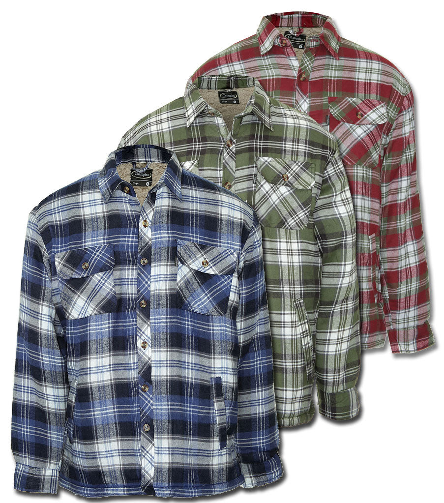 Skye lumberjack shirt with thick fleece lining for winter