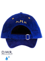 blue navy suede baseball cap
