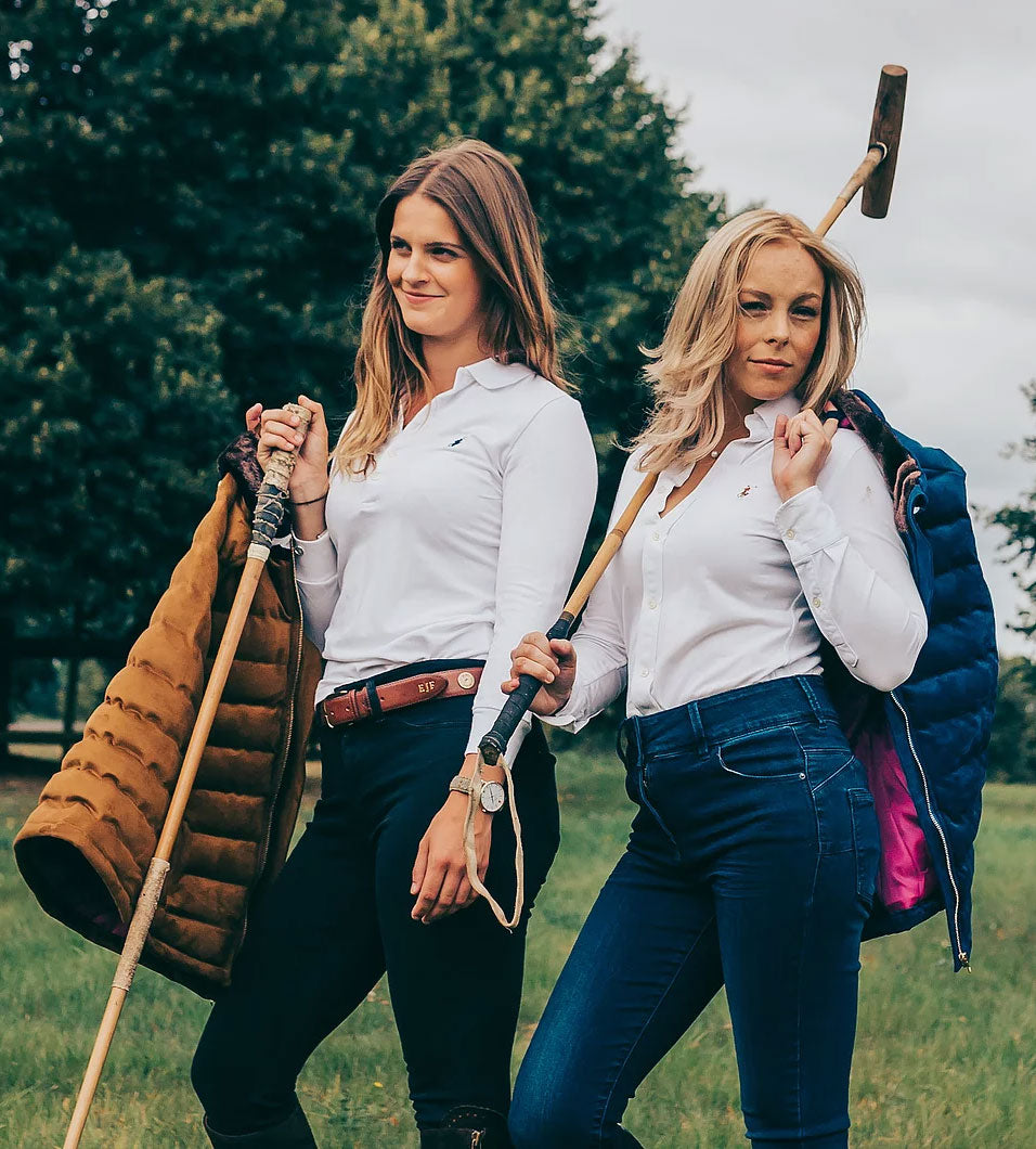 with polo sticks Windermere Ladies Gilet by Sporting Hares