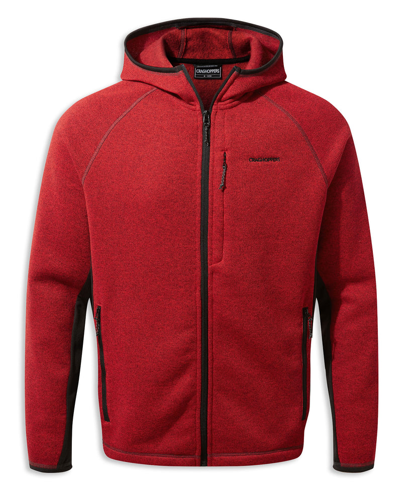 Sriracha Red Craghoppers Apollo Hooded Fleece Jacket