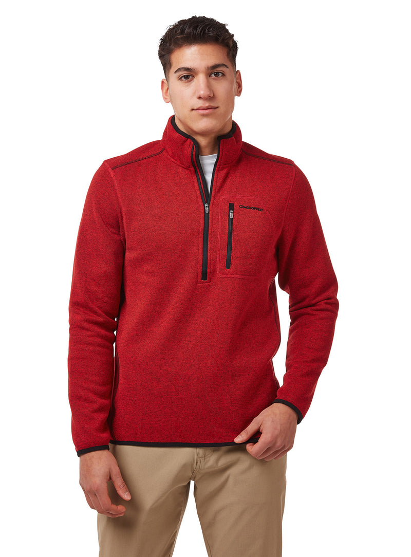 Sriracha Red Etna Fleece Top by Craghoppers