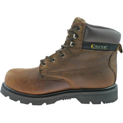 Grafters Gladiator Brown Safety Toe Cap Boot