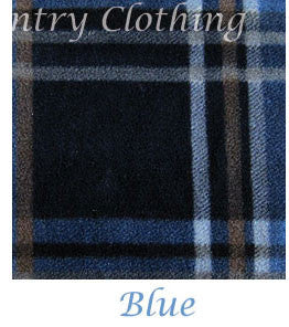 blue tartan fleece