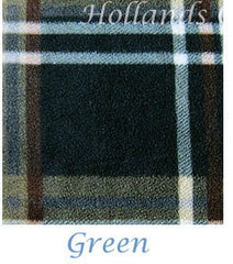 Green tartan fleece