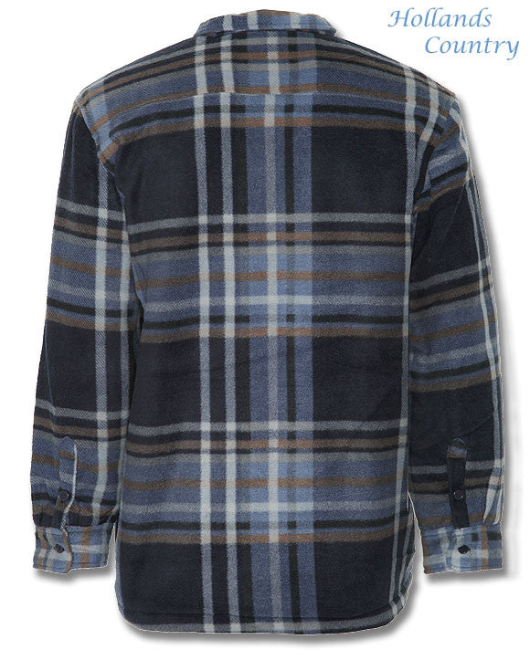 back view blue tartan Champion Stirling Lumberjack Fleece Jacket