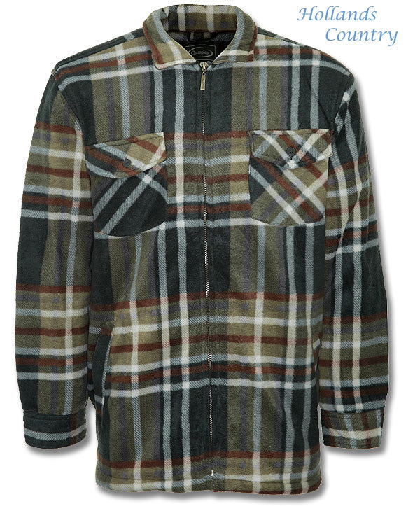 front showing pockets on Champion Stirling Lumberjack Fleece Jacket