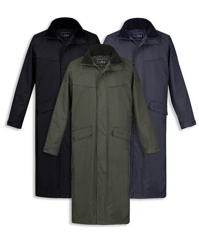 stockton Full length waterproof coat Jack Murphy in olive black and navy
