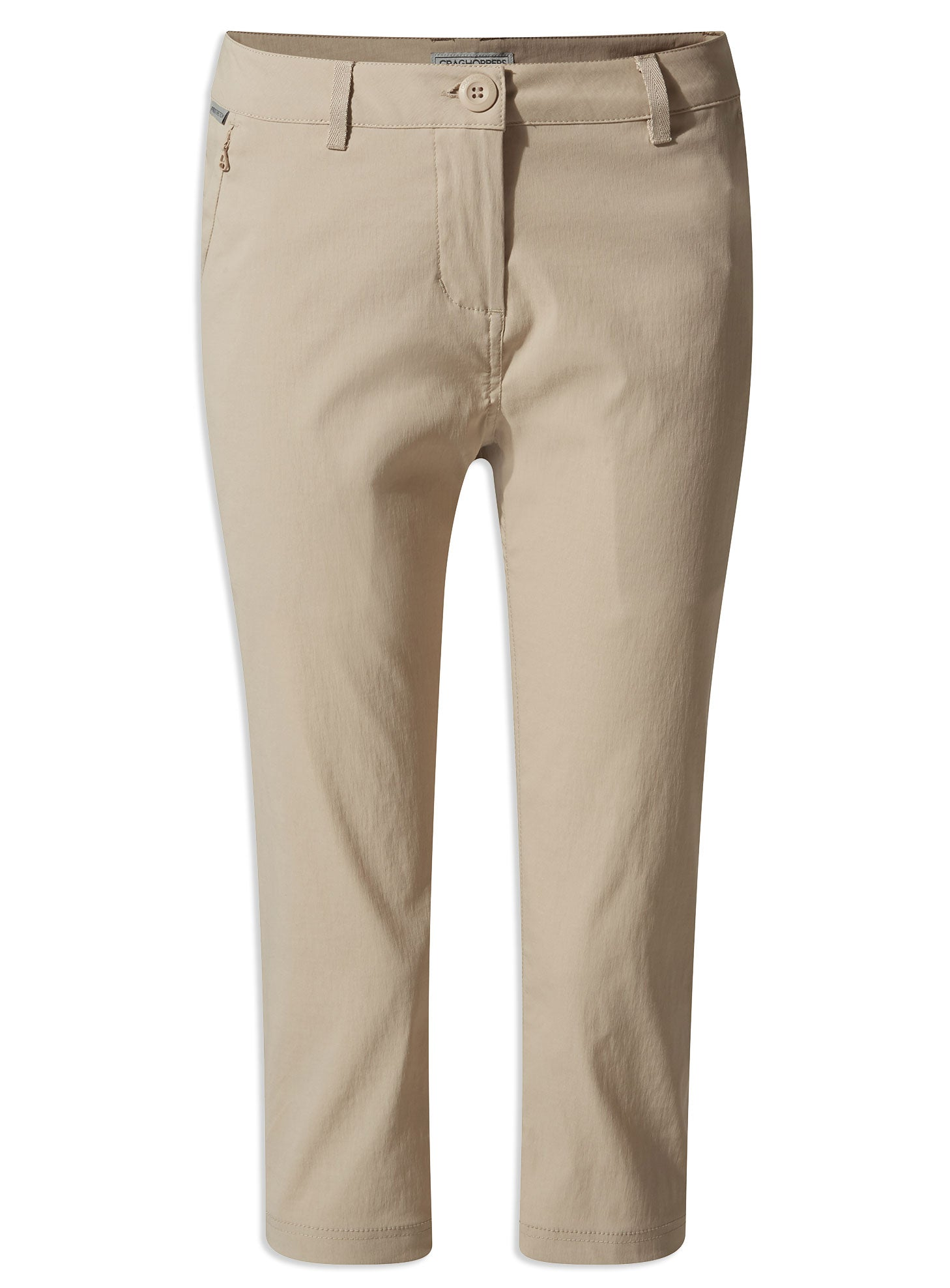 Desert sand Ladies Kiwi Pro Crop Trousers by Craghoppers