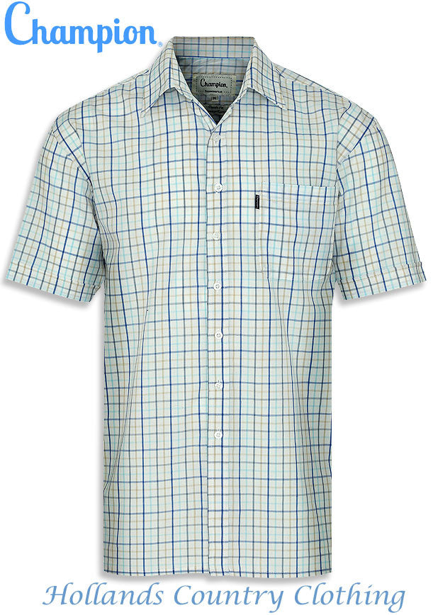 Champion Stowmarket Short Sleeved Summer weight Shirt open neck