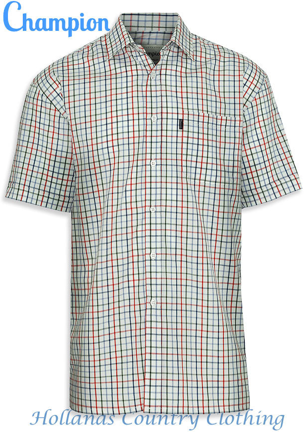 Champion Stowmarket Short Sleeve Summer weight Shirt open neck