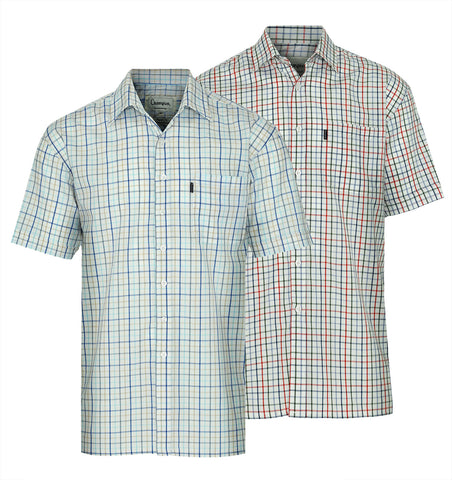 champion stowmarket tattersall short sleeve shirt summer weight