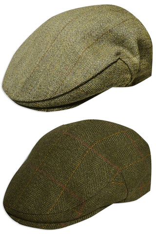 Strathanan Derby Tweed Flat Cap - a classic Country Cap