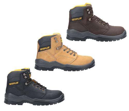 Caterpillar Cat Striver Safety Boot | Black, Brown, Gold