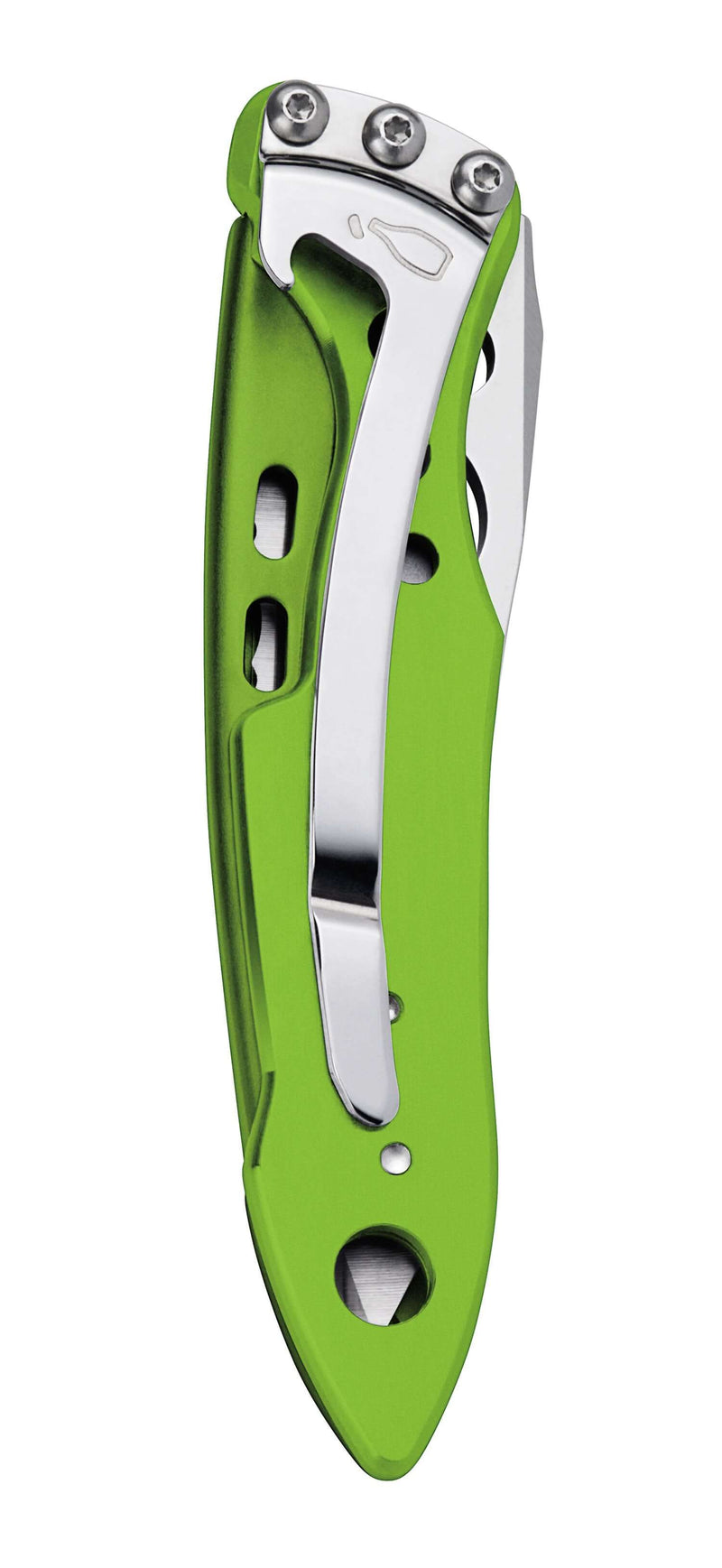 Closed Sublime Green Skeletool KBx Knife by Leatherman