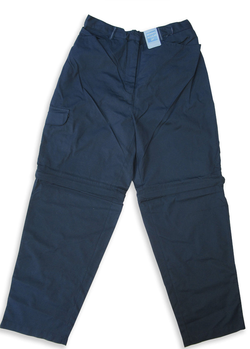 navy Ladies Regatta OS Zip-Off Leg Trousers