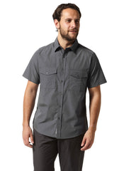 Blue short sleeved walking shirt
