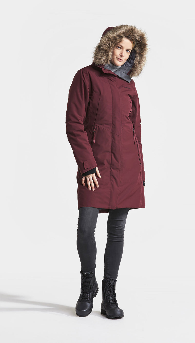 Anemone Red didrikson ladies parka coat