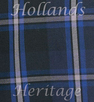 blue and navy tartan swatch