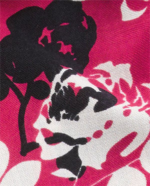 colour swatch French Cruisewear Scarf with Deep Pink Floral Design