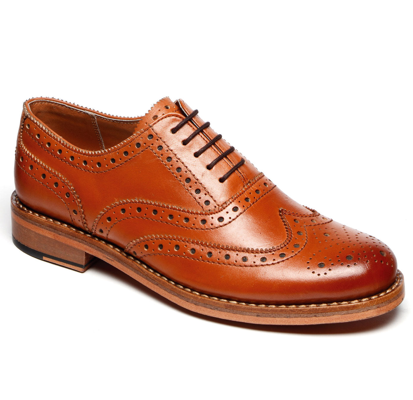 c1b62d32e76 Catesby All Leather Brogue Shoe – Hollands Country Clothing