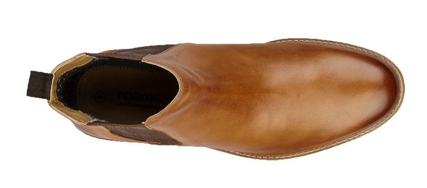 Attractive burnished Tan upper - with classic seamless front upper.