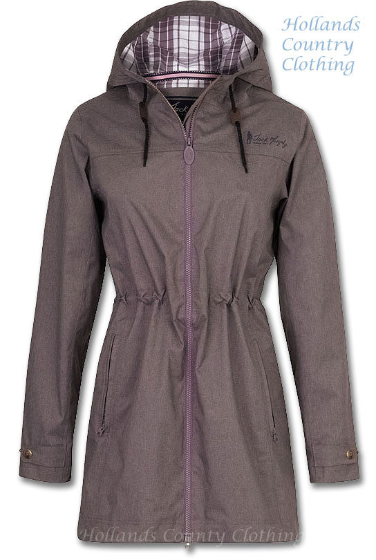 Jack Murphy Tanya Waterproof Parka Coat. Three Colours pl;um