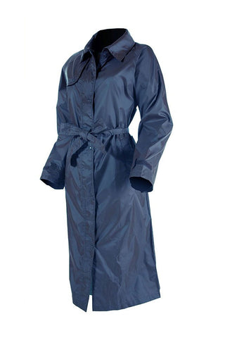 Ladies Full Length Packaway Waterproof Jacket by Lighthouse navy