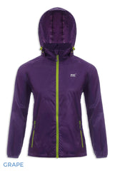 Packaway Waterproof Jacket by Lighthouse Hooded Grape