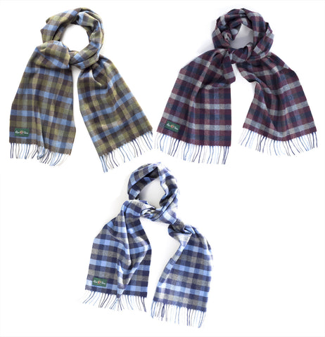 Alan Paine Block Check Scarf