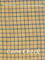 corn check Sherwood Forest Field Tattersall Check Shirt all cotton