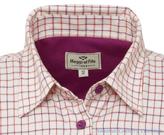ladies tattersall shirt with warm lining