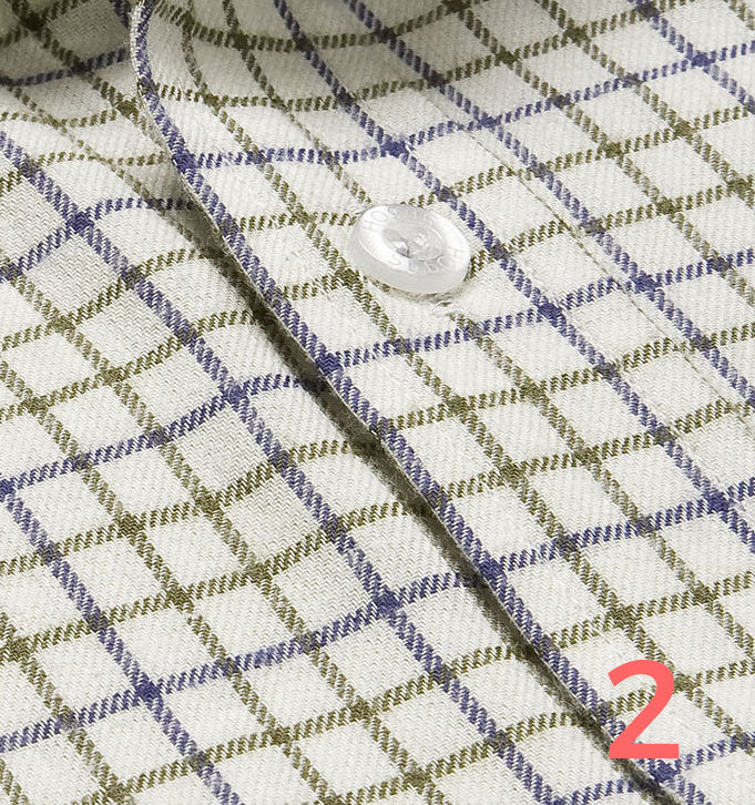 navy olive tattersall check