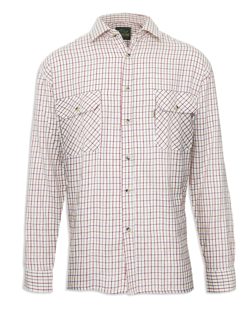 Tattersall Check shirt in Red,  the classic Country Check Shirt IN ALL COTTON