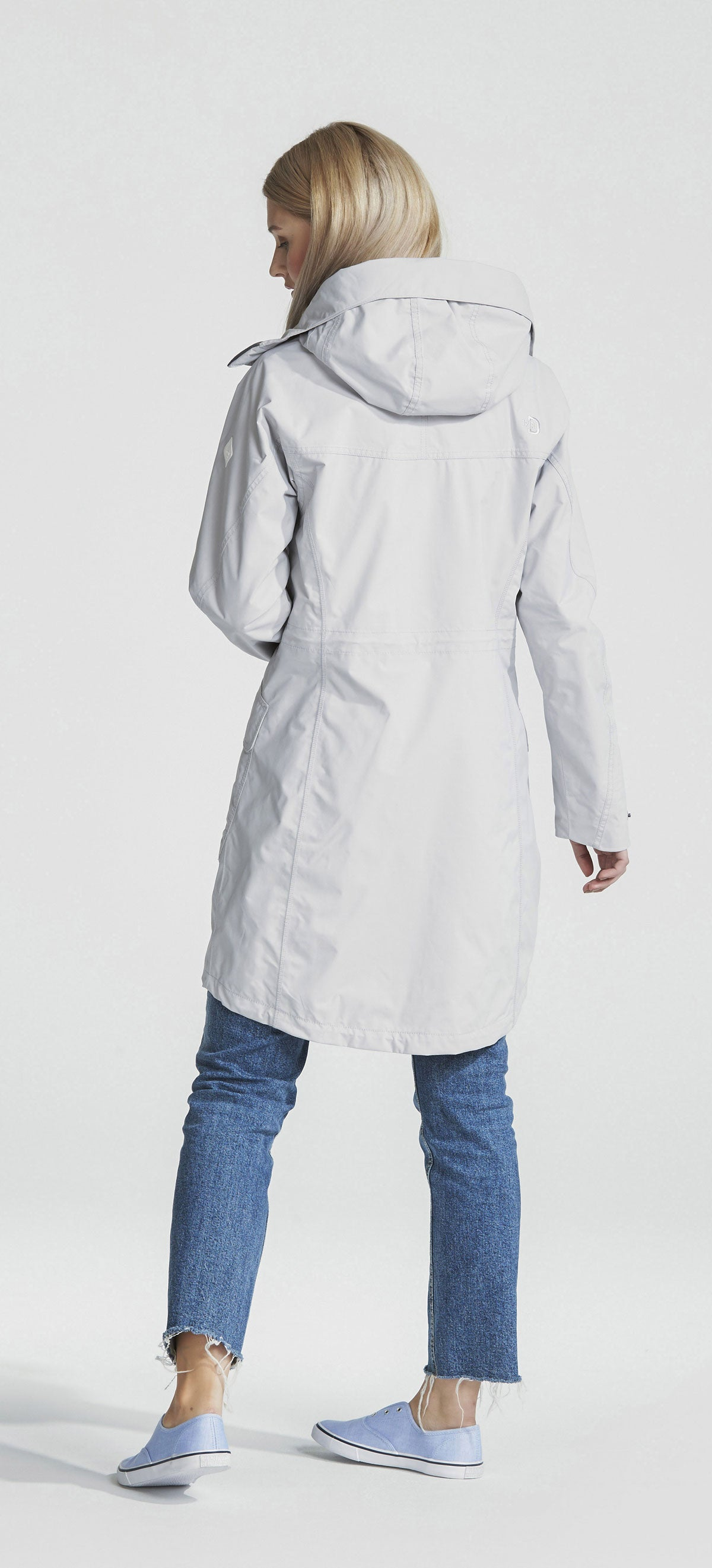 lady in white parka