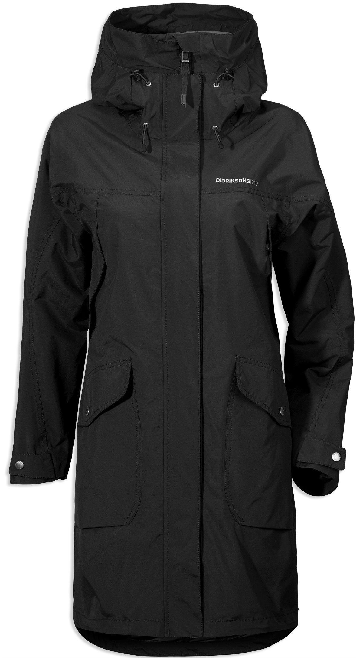 black Didriksons Ladies Thelma Waterproof parka coat