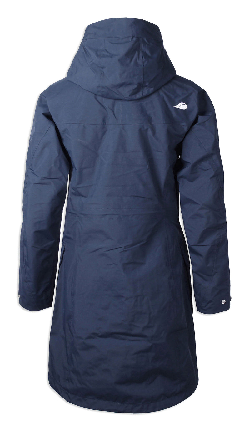 Back view navy Didriksons Thelma II Waterproof Parka