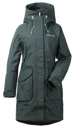 North Sea Green frotn view Didriksons Thelma II Waterproof Parka
