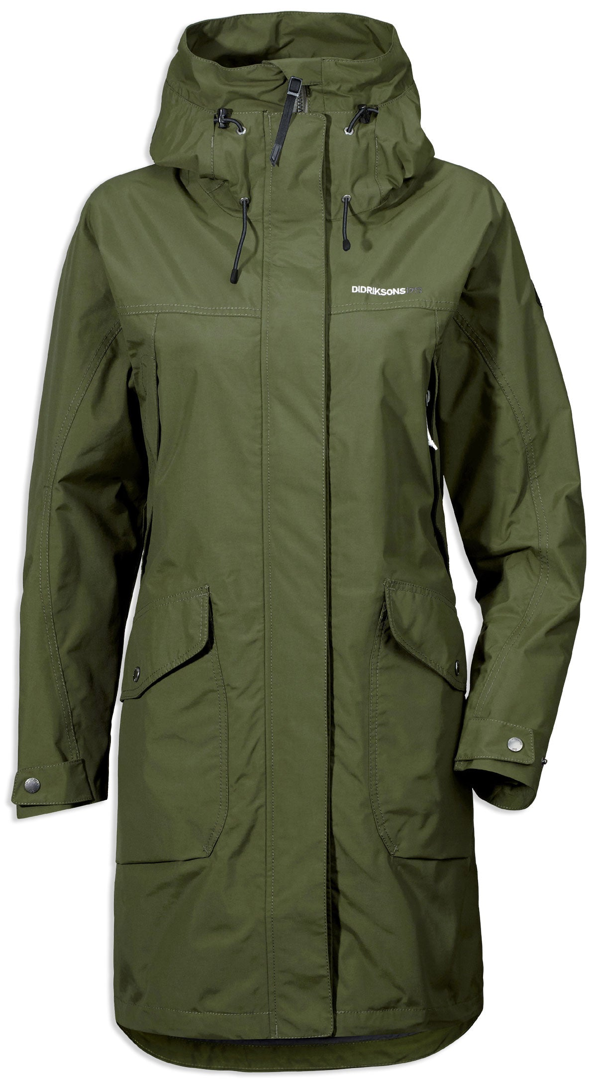 peat colour Didriksons Ladies Thelma Waterproof parka coat
